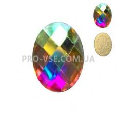 Стразы фигурные Crystal AB Овал 4х6мм EsVorp