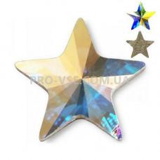 Стразы фигурные Crystal AB Звезда 6х6 EsVorp фото на ногтях | PRO-VSE