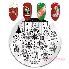 Диск для стемпинга BornPretty Christmas BP-R001 фото | PRO-VSE