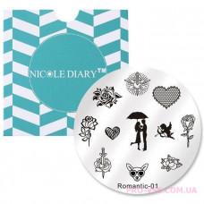 Диск для стемпинга ND Romantic-01
