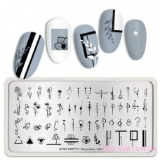 Пластина для стемпинга BornPretty Decoration-L001 фото | PRO-VSE