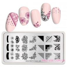 Пластина для стемпинга BornPretty French-L001 ногти френч фото | PRO-VSE