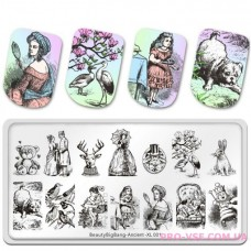 Пластина для стемпина BeautyBigBang Ancient XL-001 фото обзор ногти | PRO-VSE
