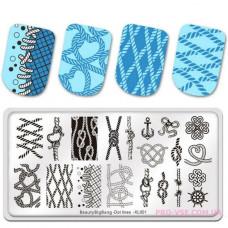 Пластина для стемпина BeautyBigBang DotLines XL-001 фото обзор ногти | PRO-VSE