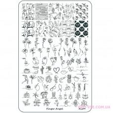 Пластина для стеминга Finger Angel XL09 фото обзор ногти | PRO-VSE