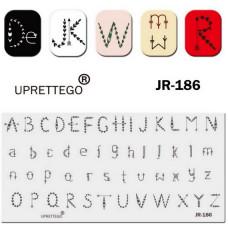 Пластина для стемпинга JR-186 UPRETTEGO фото, отзывы, ногти, купить | PRO-VSE
