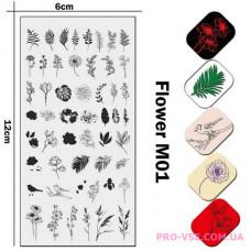 Пластина для стемпинга JR UNAIL Flowers M01 UPRETTEGO фото, отзывы, ногти, купить | PRO-VSE