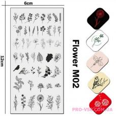 Пластина для стемпинга JR UNAIL Flowers M02 UPRETTEGO фото, отзывы, ногти, купить | PRO-VSE