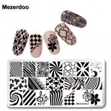 Пластина для стемпинга Mezerdoo 01