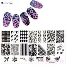 Пластина для стемпинга Mezerdoo 02