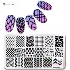 Пластина для стемпинга Mezerdoo 04