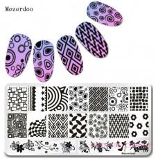 Пластина для стемпинга Mezerdoo 06