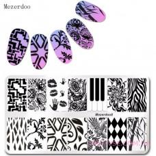 Пластина для стемпинга Mezerdoo 08