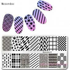 Пластина для стемпинга Mezerdoo 10