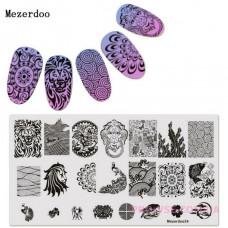 Пластина для стемпинга Mezerdoo 34