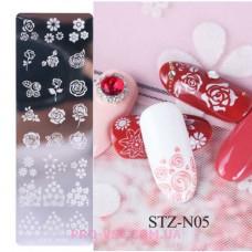 Пластина для стемпинга STZ-N05 фото | PRO-VSE