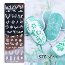 Пластина для стемпинга STZ-N08 фото | PRO-VSE