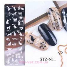 Пластина для стемпинга STZ-N11 фото | PRO-VSE