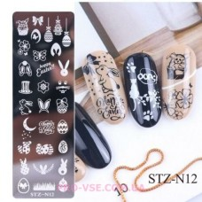 Пластина для стемпинга STZ-N12 фото | PRO-VSE