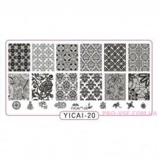 Пластина для стемпинга YICAI 20 фото | PRO-VSE