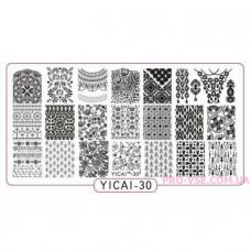 Пластина для стемпинга YICAI 30 фото | PRO-VSE