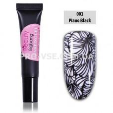 Гель-паста для стемпинга BeautyBigBang 001 Черный фото | PRO-VSE
