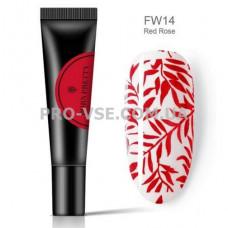 Гель для стемпинга Красный Born Pretty FW14 8 мл