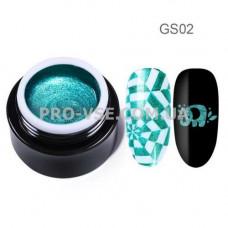 GS02 Глиттерный гель для стемпинга Бирюзовый Born Pretty фото | PRO-VSE