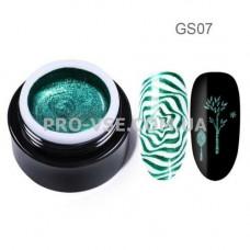 GS07 Глиттерный гель для стемпинга Зеленый Born Pretty 5 мл