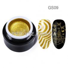 GS09 Глиттерный гель для стемпинга Золотой Born Pretty фото | PRO-VSE
