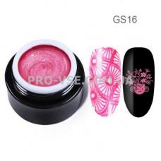 GS16 Глиттерный гель для стемпинга Яркий розовый Born Pretty фото | PRO-VSE