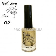 Nail Story Shine лак для стемпинга №02 Золото фото | PRO-VSE