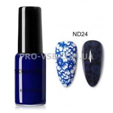 Лак для стемпинга NICOLE DIARY 24 темно-синий 6мл фото ногти | PRO-VSE