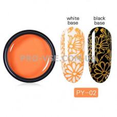 Гель-паста для стемпинга 02 Оранжевая PictYou 5 мл фото | PRO-VSE