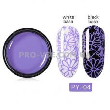 Гель-паста для стемпинга 04 Фиолетовая PictYou 5 мл фото | PRO-VSE