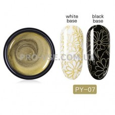 Гель-паста для стемпинга 07 золотая PictYou 5 мл фото | PRO-VSE