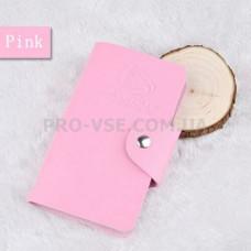 Органайзер, сумка для хранения пластин для стемпинга Manzilin Розовый светлый 24 фото
