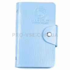 Органайзер, сумка для хранения пластин для стемпинга Manzilin 20 Голубой фото   PRO-VSE