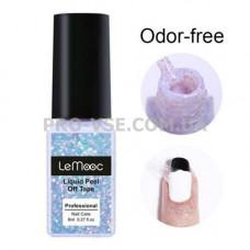 Жидкая лента Сиреневая глиттерная без запаха LeMooc Odor-Free 8мл | PRO-VSE