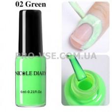 Жидкая лента NicoleDiary зеленая 6мл фото | PRO-VSE