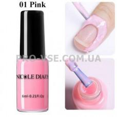 Жидкая лента NicoleDiary розовая 6мл фото | PRO-VSE