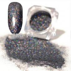 Блестящая зеркальная пыль 0.05 (1000) Черный голографический фото