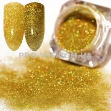 Блестящая зеркальная пыль 0.05  (210) Золото светлое голография фото