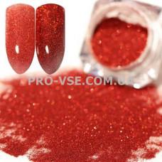 Блестящая зеркальная пыль 0.05  (300) Красная голографическая фото