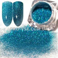Блестящая зеркальная пыль 0.05  (700) Голубой голографический фото