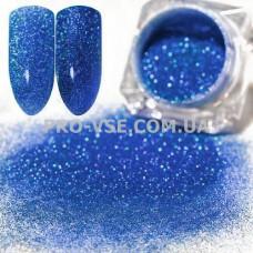 Блестящая зеркальная пыль 0.05  (709) Синий голографический фото