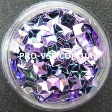 3D блестки квадрат 05 Фиолетово-сиреневый хамелеон 1г фото