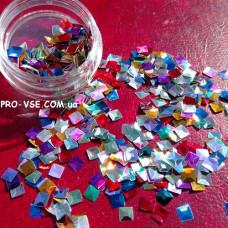 3D блестки квадрат 00 микс цветов фото
