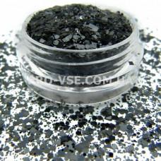 Геометрический Микс Черный, декор для ногтей фото | PRO-VSE