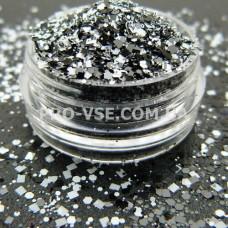 Геометрический Микс Черно-белый, декор для ногтей фото | PRO-VSE